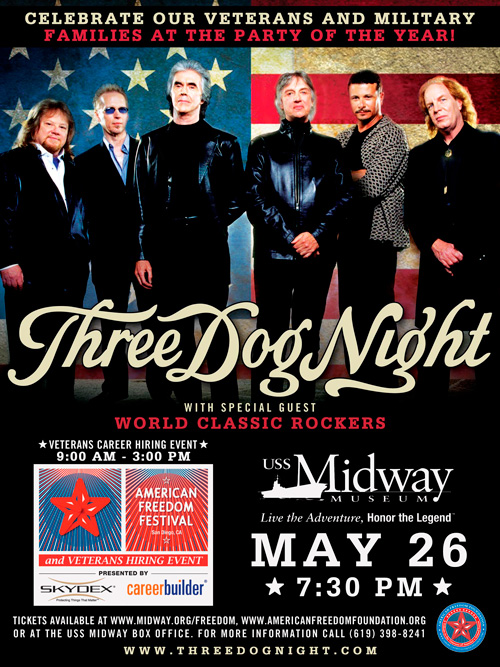 3rd Annual American Freedom Festival with Three Dog Night
